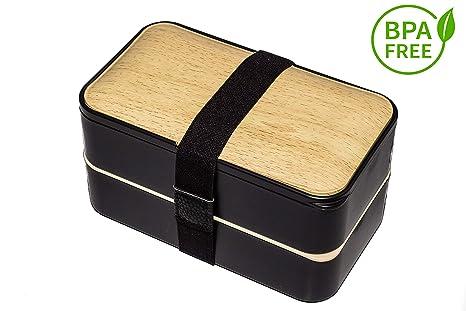 Générique Fiambrera de bambú, Gran Capacidad, 1200 ml, 2 ...