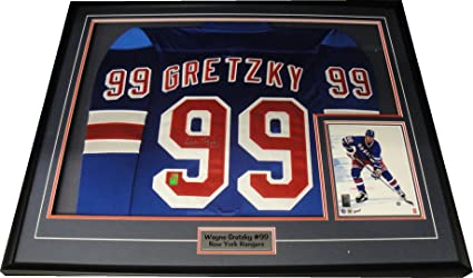 the latest 17d00 2f1d3 Wayne Gretzky Signed Autographed New York Rangers Framed ...