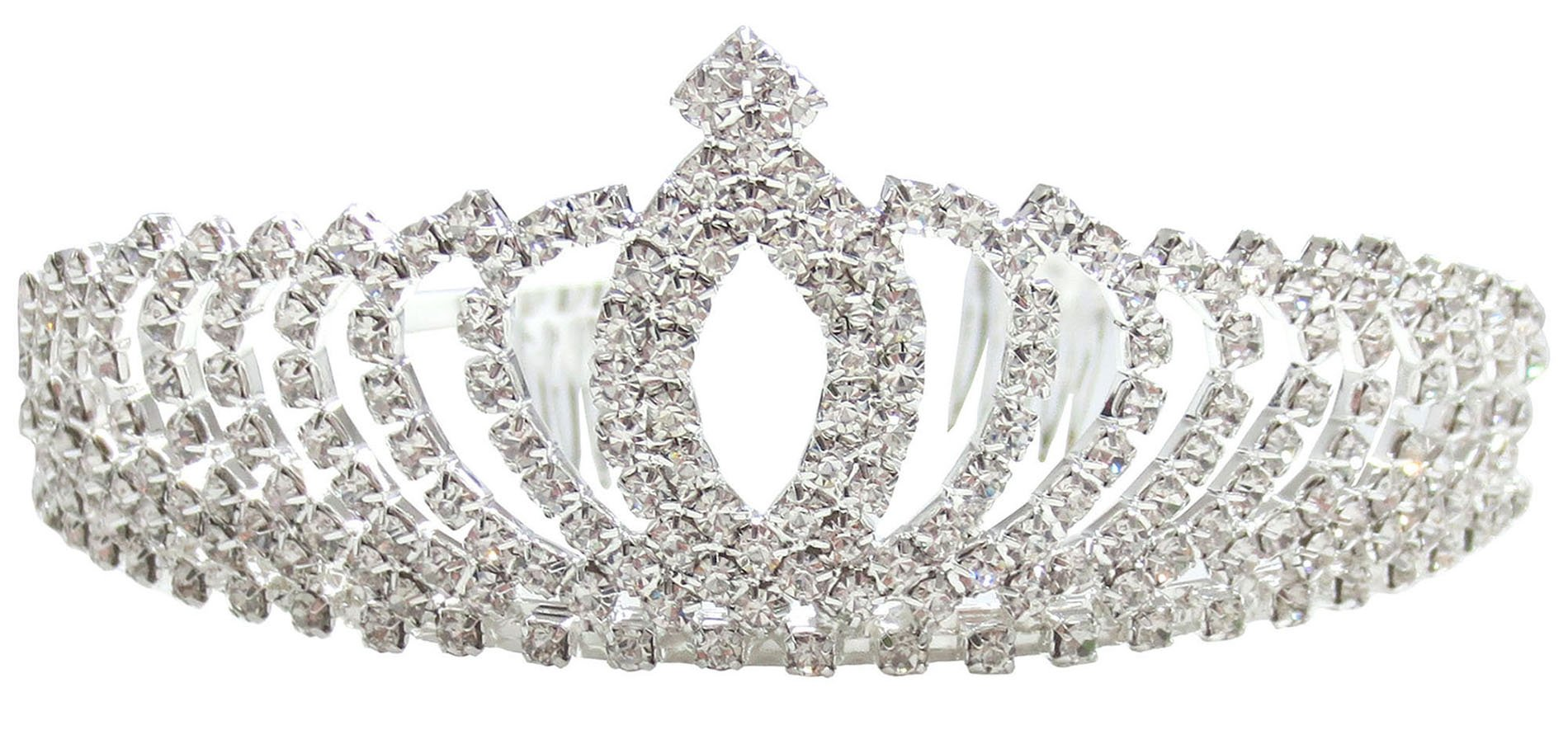 Rhinestone Tiara Crown Wedding Bridal Pageant Princess Headband, Style 5