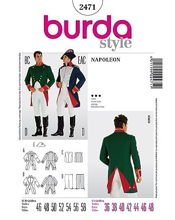 Burda 2471 Schnittmuster KostŸm Fasching Karneval Napoleon Offizier ...
