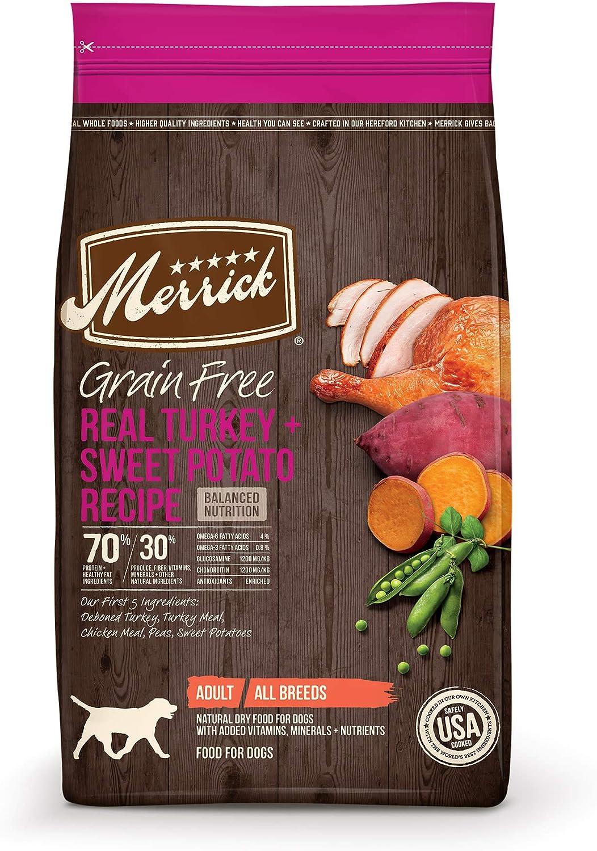Merrick Grain Free Turkey + Sweet Potato Recipe Dry Dog Food, 4 lbs.