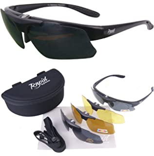 sports sunglasses with interchangeable lenses  Luna White UV POLARISED SPORTS SUNGLASSES With Interchangeable ...