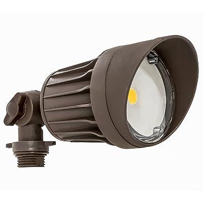 Westgate LED Flood Light- Security Light - Bronze - Die-cast Aluminum Housing - High Lumen - Waterproof IP54-120-227V - 7 YR Warranty (10W 5000K Bronze)