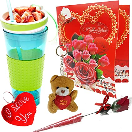 Buy Urvi Creations Valentines Day Gift Combo Pack Snackeez Cup
