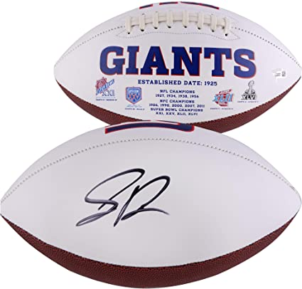 competitive price 1a0f7 45511 Saquon Barkley New York Giants Autographed White Panel ...