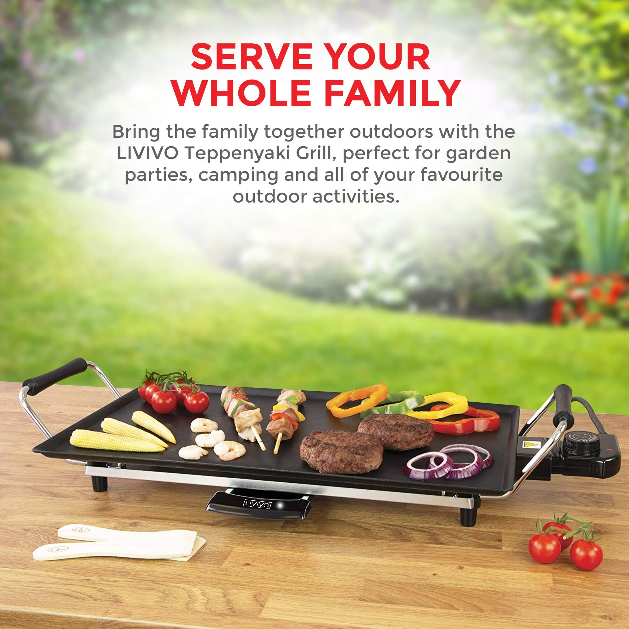 COSTWAY Electric Teppanyaki Table Top Grill Griddle BBQ Barbecue Nonstick Camping