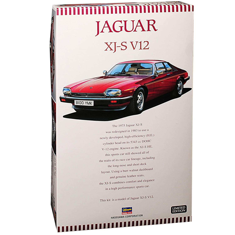 Hasegawa Jaguar Jaguar Jaguar XJ-S V12 Coupe Rot 1975-1996 Kit Bausatz 1/24 Modell Auto mit individiuellem Wunschkennzeichen ccc367
