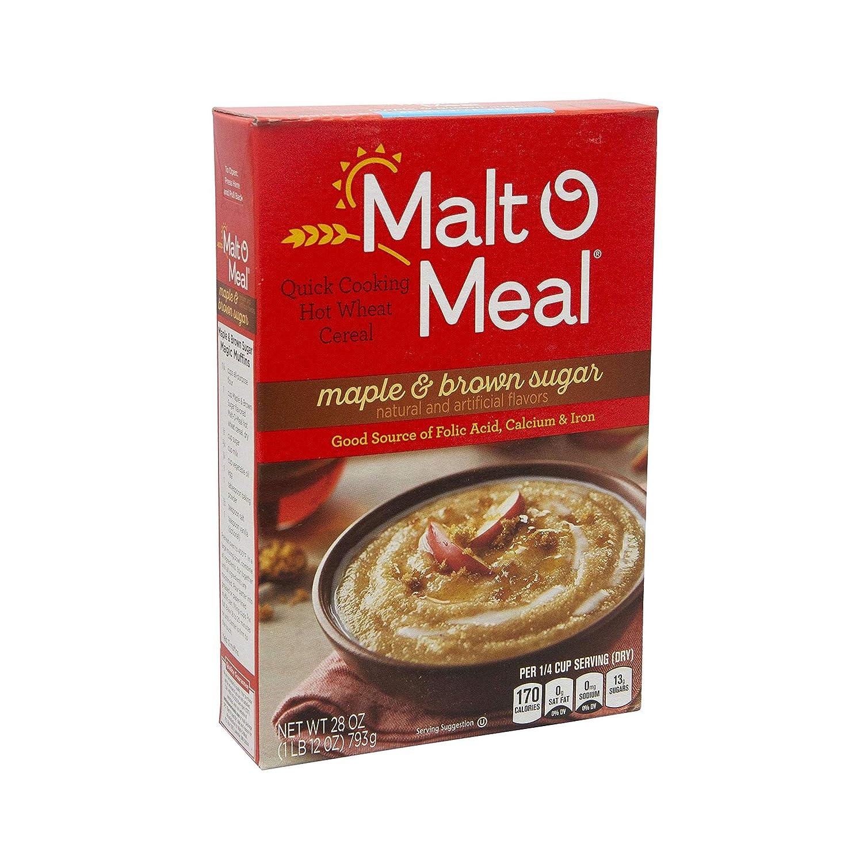 Malt-O-Meal Maple & Brown Sugar Hot Cereals, 28 Oz. Box (Pack of 3)