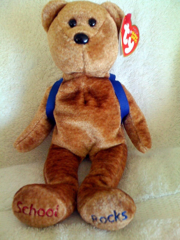 Amazon.com  Ty Beanie Babies ABC s Bear - Blue Backpack  Toys   Games e5e95c2a825