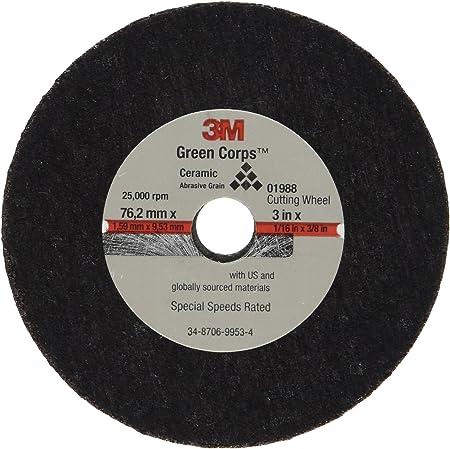 "3M 1988 General Purpose Cut Off Wheel 01988  3/"" x 1//16/"" x 3//8/"" 50//Bx"