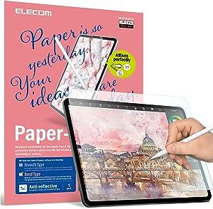 ELECOM Pencil-Feel Screen Protector Compatible with iPad Air 4 (10.9inch, 2020) / iPad Pro 11