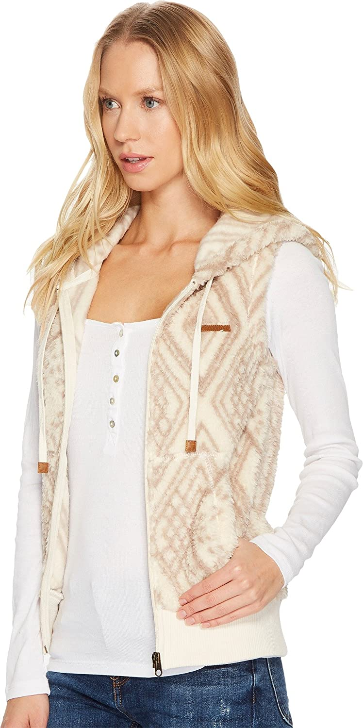Billabong Women's Fur Vest White Cap