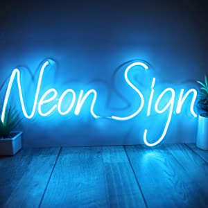 Personalized Neon Signs Wall Hanging Decor for Bedroom, Party, Business Logo, Wedding Event Handmade with Neon Flex Custom Neon Signs with Acrylic Support, Power Adapter (16 Letters)