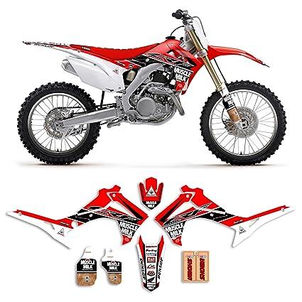 2014 2017 Honda Crf 250 Muscle Milk Motocross Graphics Kit