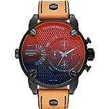 Diesel Men's Quartz Watch, Analog Display and Leather Strap DZ7408