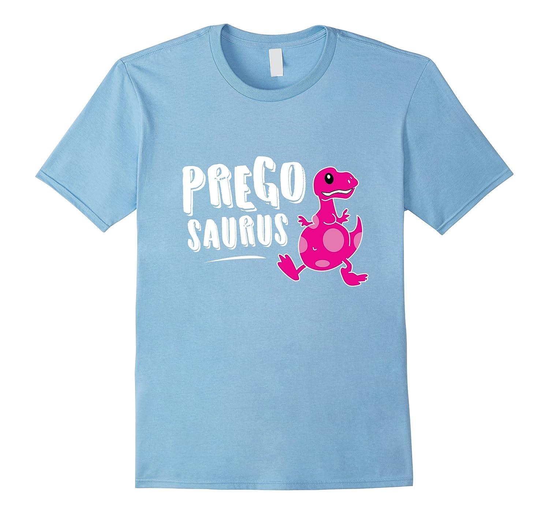 9c625aef54056 Pregosaurus Pregnant T-Rex Dinosaur Cute Funny Pun Tee Shirt-RT ...