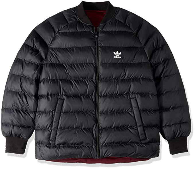adidas Originals Men's Superstar Reversible Jacket, Black, L
