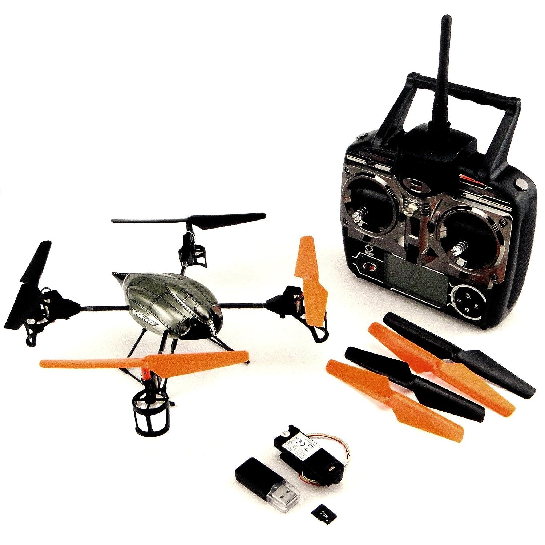 Efaso V222 Upgrade Edition -6 Achs Gyro 4 Kanal 2,4 GHZ Quadrocopter mit Kamera LED ´S und Profi-Fernbedienung, auf Mode 1, 2,3 und 4 umschaltbar, zusätzliche LED Beleuchtung an den Auslegern