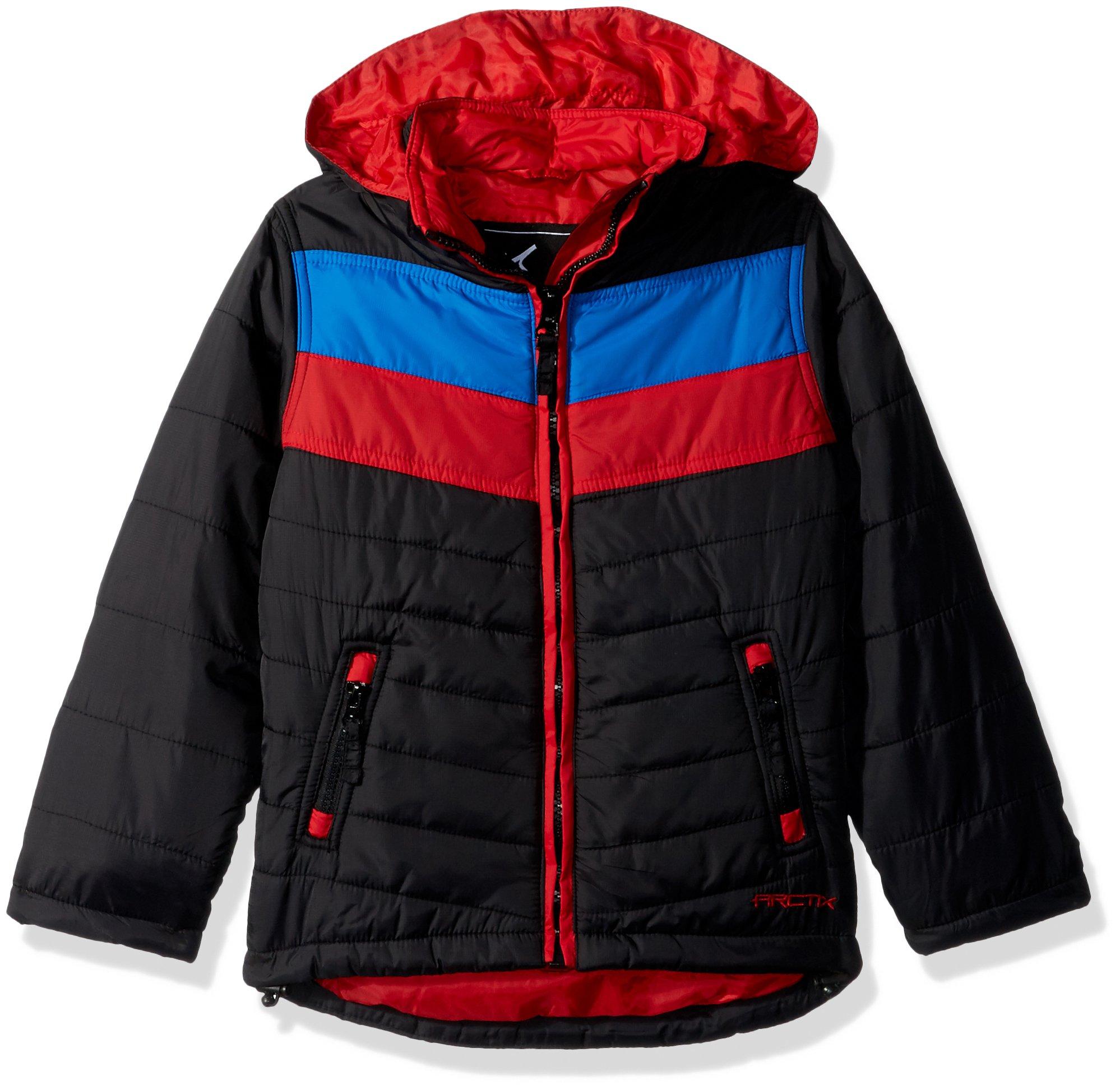 Arctix Boys Steep Insulated Puffer Jacket, Medium, Black