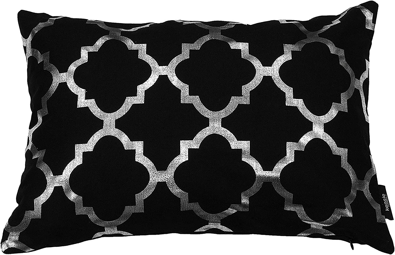Amazon.com: Kensie Holly Metallic Lattice Decorative Pillow Cover