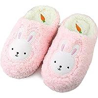 Komyufa Women Fur House Slippers Cozy Animal Home Slipper Fuzzy Bedroom Shoes Indoor Outdoor
