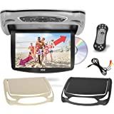 Car Roof Mount DVD Player Monitor 13.3 inch Vehicle Flip Down Overhead Screen- HDMI SD USB Card Input with Built-in IR…