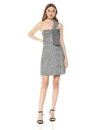 1338d0a1 Sam Edelman Women's One Shoulder Gingham Dress at Amazon Women's Clothing  store: