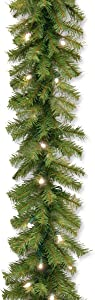 National Tree 9 Foot by 10 Inch Norwood Fir Garland with 50 Soft White LED Lights (NF-304L-9A-1)