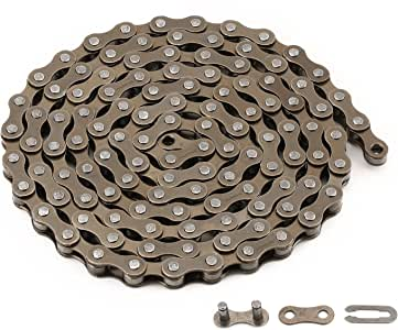 ZONKIE Cadena de Bicicleta de 1 velocidades,116 eslabones: Amazon ...