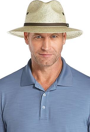 Coolibar UPF 50+ Men s Fairway Golf Hat - Sun Protective at Amazon ... 3b98c961ef4