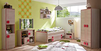 Ticaa Jugendzimmer Camo 6 Teilig Rot Amazon De Kuche Haushalt