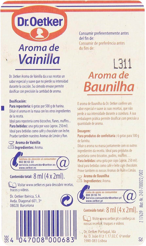 Dr. Oetker Aroma de Vanilla - 4 dosis: Amazon.es ...