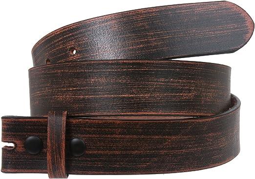 Snap On Oil Tanned Top Grain Genuine Vintage Retro Western Cowhide Leather Belt