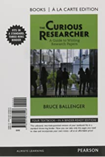 the curious researcher 9th edition amazon