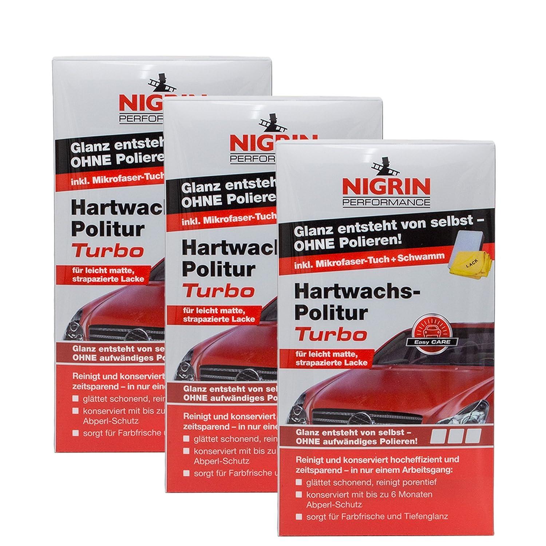 3 x Nigrin 72971 Performance Cera Dura de abrillantador Turbo 300 Ml: Amazon.es: Coche y moto