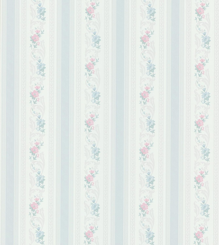 Brewster 979 51105 Mirage Cameo Rose Iv Acanthus Floral Stripe