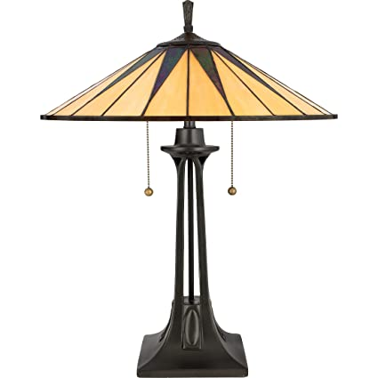 Quoizel TF6668VB 2 Light Gotham Table Lamp In Vintage Bronze
