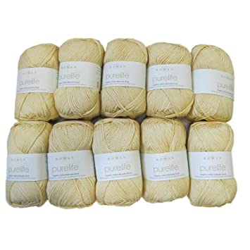 rowan purelife organic cotton dk 984 yellowood pack of 10