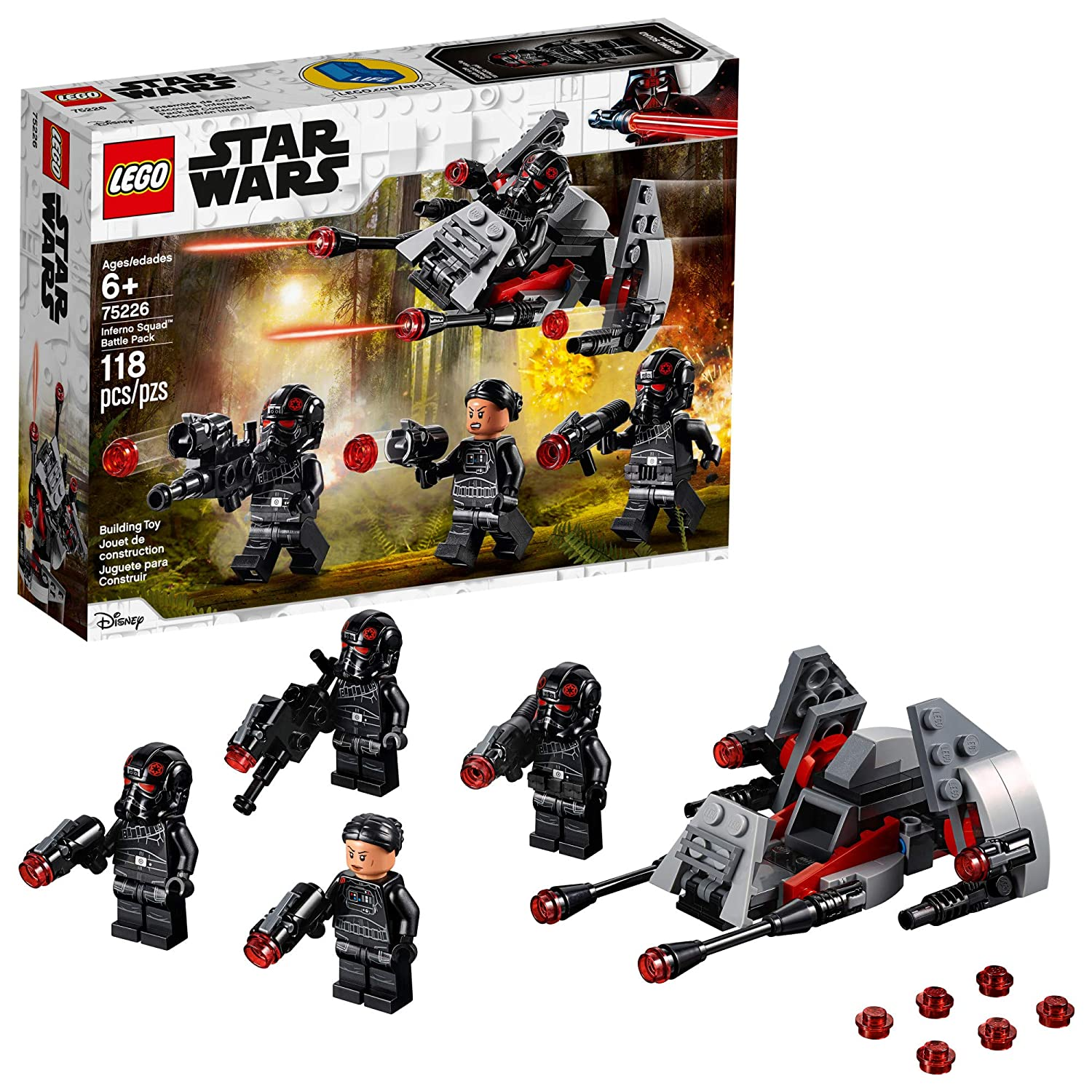 LEGO Star Wars Inferno Squad Battle Pack 75226 Building Kit, 2019 (118  Pieces)