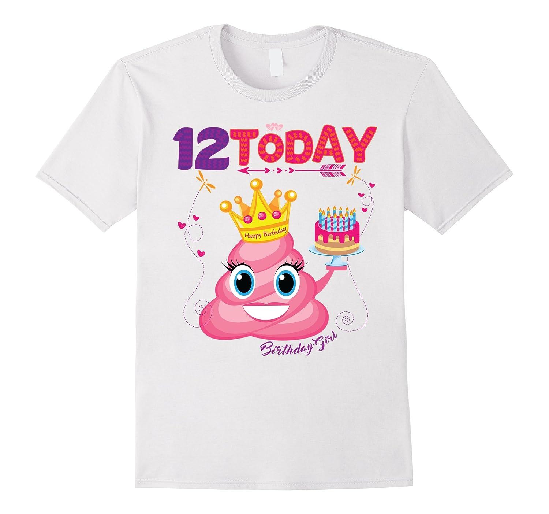 Emoji Birthday Cake Shirt For Girls 12 Kids Gift-CD