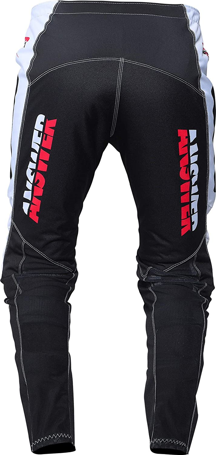 Answer Mens Syncron Pro Glow Motocross Jersey and Pants Combo White//Black//Pink