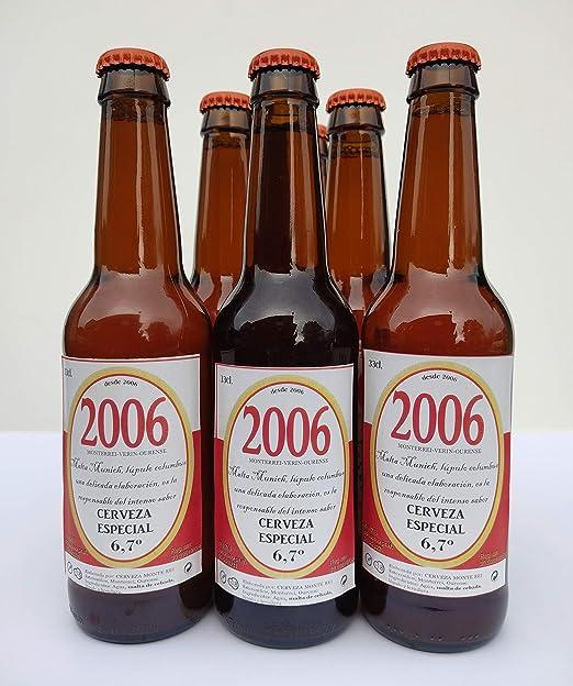 Cerveza artesana MONTE REI 2006 Tostada caja x6 unidades de 33cl