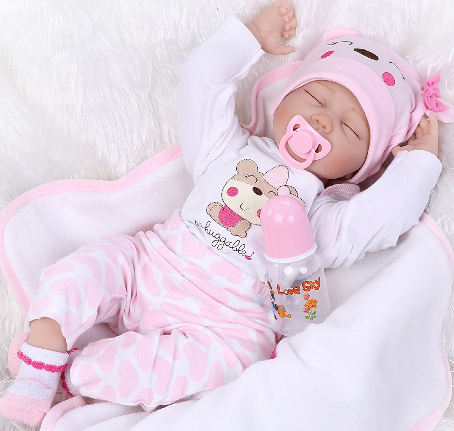 "Lifelike Reborn Baby Doll 10/"" Silicone Vinyl Girl Realisic Newborn Closed eyes"