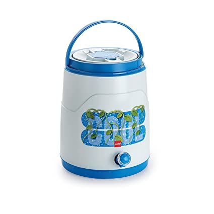 41089b59ea Buy Cello Fountain Plastic Insulated Water Jug, 10 litres, Blue Online at  Low Prices in India - Amazon.in