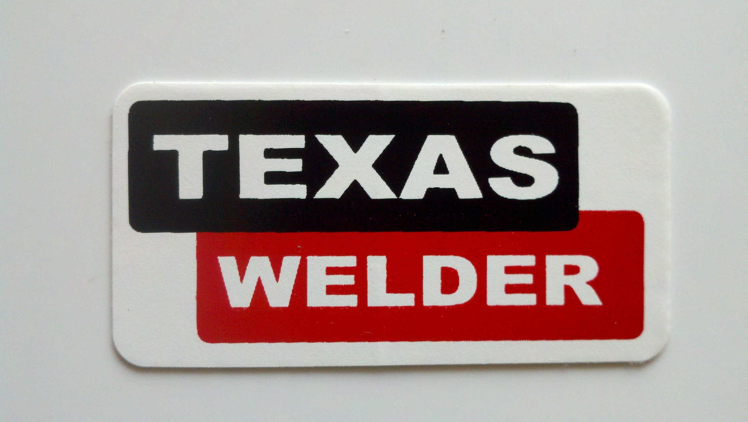 "3 - Texas Welder Hard Hat/Helmet Stickers 1"" x 2"""