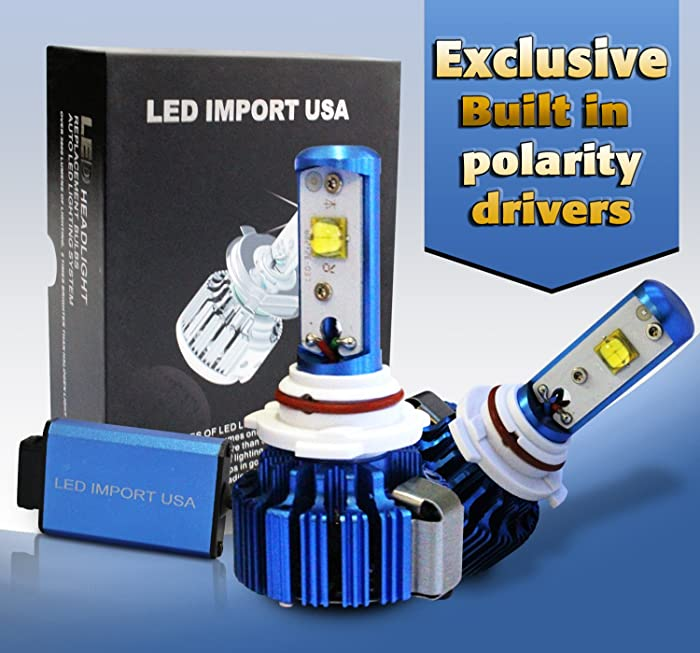 LED import USA led CREE Headlight Bulbs Kit H11 H9 H8 6000k 60w 7200LM 2 Yr Warranty