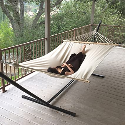 Attractive Hammock  New Outdoor Swing Chair Hanging Camping Cotton Double Bed Patio  Canvas