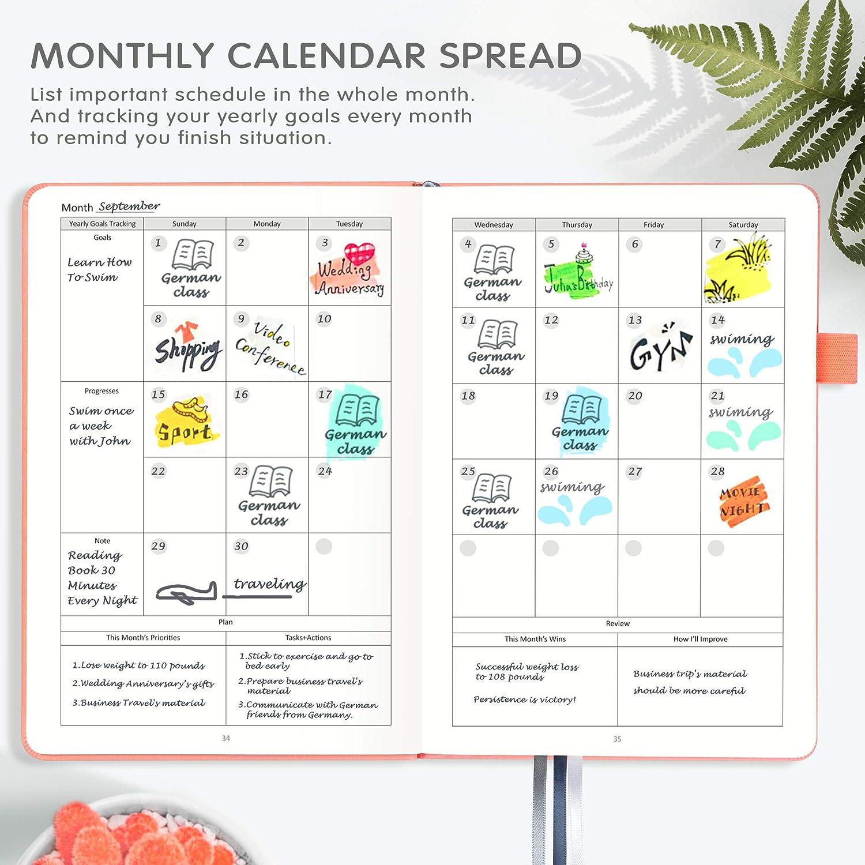 NotePages Gift Box Arcobis 52 Weeks Productivity Planner with Gratitude Journal Black Pen Holder Hardcover Back Pocket Undated Weekly Planner