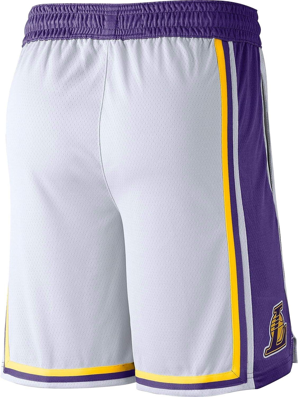 Nike Los Angeles Lakers NBA Boys Youth 8-20 Association Edition White Swingman Shorts