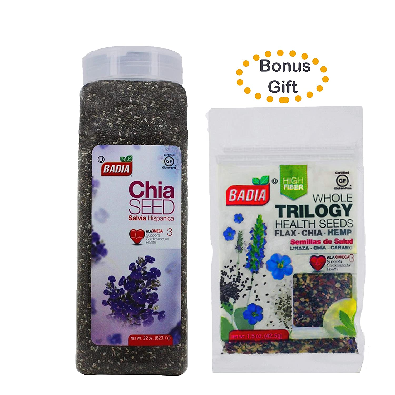 Amazon.com : Omega-3 Superfood Chia Seeds 22 oz + BONUS Gift ...
